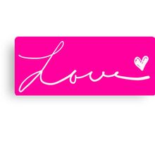 Love handwritten.  Canvas Print