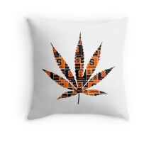 Syracuse Weed Leaf Throw Pillow