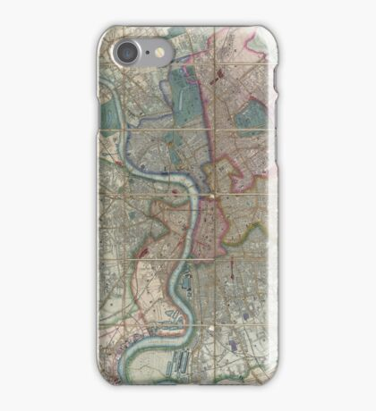 Vintage Map of London England (1852) iPhone Case/Skin