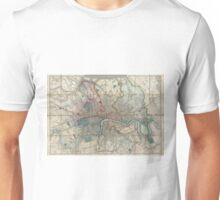 Vintage Map of London England (1852) Unisex T-Shirt