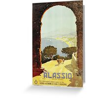 Vintage 1920s Alassio Italian travel advertising Greeting Card