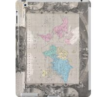 Vintage Map of The World (1852) 2 iPad Case/Skin