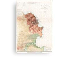 Vintage Map of San Francisco CA (1853) Canvas Print
