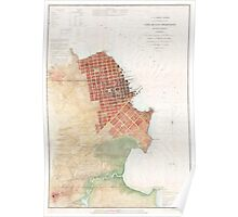 Vintage Map of San Francisco CA (1853) Poster