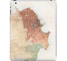 Vintage Map of San Francisco CA (1853) iPad Case/Skin