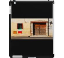 Italian Flag on Rural Building iPad Case/Skin