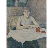 Henri de Toulouse-Lautrec  - Young woman at a table,Woman Portrait Photographic Print