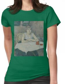 Henri de Toulouse-Lautrec  - Young woman at a table,Woman Portrait Womens Fitted T-Shirt