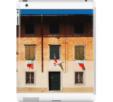Italian Flags on Rural Building iPad Case/Skin
