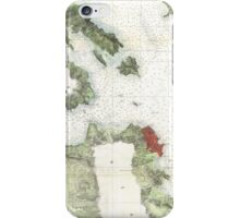 Vintage Map of The San Francisco Bay (1856) iPhone Case/Skin