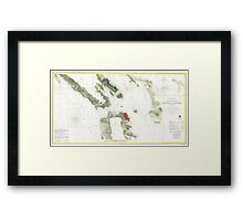 Vintage Map of The San Francisco Bay (1856) Framed Print