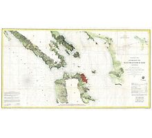 Vintage Map of The San Francisco Bay (1856) Photographic Print