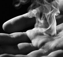 smoking hand Sticker