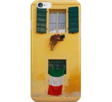 Italian Flag on Yellow Building iPhone Case/Skin