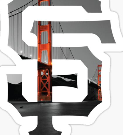 SF Giants White Sticker