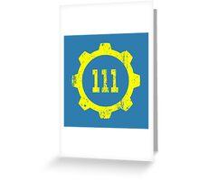 Vault 111 Greeting Card