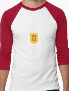 Manchester United Minimalist Football Design Men's Baseball ¾ T-Shirt