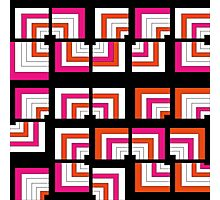 Funky Bright Bold Geometric Pattern Photographic Print