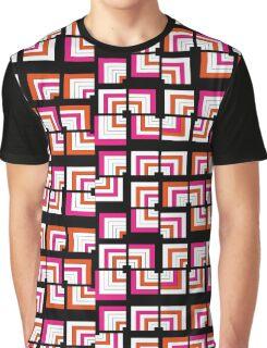 Funky Bright Bold Geometric Pattern Graphic T-Shirt