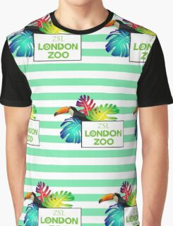 London Zoo pattern Graphic T-Shirt
