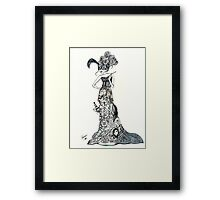 Lady Labyrinth in Tuxedo Framed Print