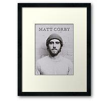 Matt Corby Framed Print