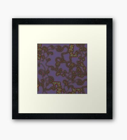 """Branches Swirling - PURPLE""© Framed Print"