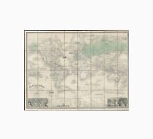 Vintage Map of The World (1857) 2 Unisex T-Shirt