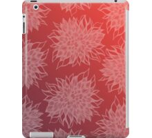 flower pattern (purple-peach) iPad Case/Skin