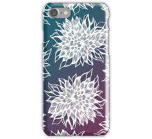flower pattern (blue-purple) iPhone Case/Skin
