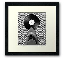 Vinyl Shark Framed Print