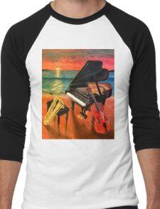 Ocean Music Men's Baseball ¾ T-Shirt