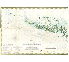Vintage Map of The Florida Keys (1859) 2 Photographic Print
