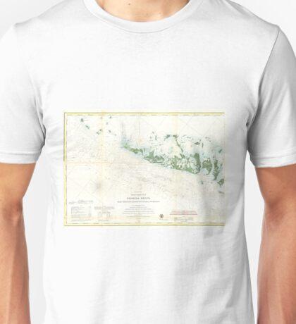 Vintage Map of The Florida Keys (1859) 2 Unisex T-Shirt