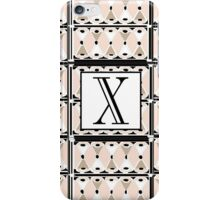 1920s Pink Champagne Gatsby Monogram letter X iPhone Case/Skin