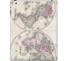 Vintage Map of The World (1862) iPad Case/Skin