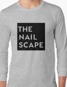 The Nailscape Square Wordmark Long Sleeve T-Shirt