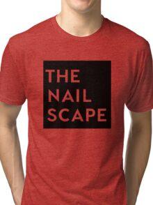 The Nailscape Square Wordmark Tri-blend T-Shirt