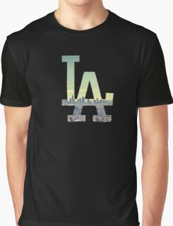 LA Dodgers Black Renewed Graphic T-Shirt