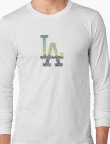 LA Dodgers Black Renewed Long Sleeve T-Shirt