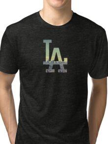 LA Dodgers Black Renewed Tri-blend T-Shirt