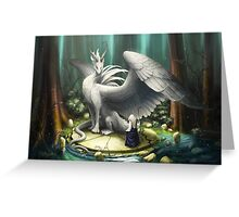 White Dragon - There in the Forest Greeting Card