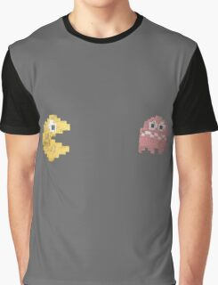 Pacman and ghost Graphic T-Shirt