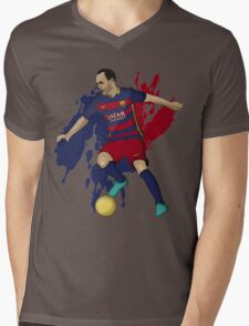 Iniesta Mens V-Neck T-Shirt