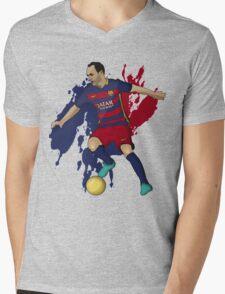 Iniesta Mens V-Neck T-Shirt