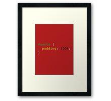 CSS pun: Santa padding: 100% (Christmas) Framed Print