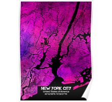 New York city map Poster