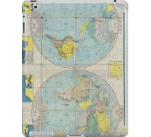 Vintage Japanese World Map (1875) iPad Case/Skin
