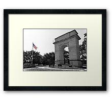 Rosedale Memorial Arch, Kansas City Framed Print