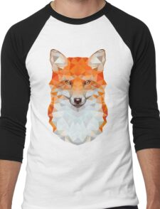 Low-poly Geometric Fox Men's Baseball ¾ T-Shirt
